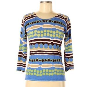 CDP & Co. Size S 3/4 Sleeve Top